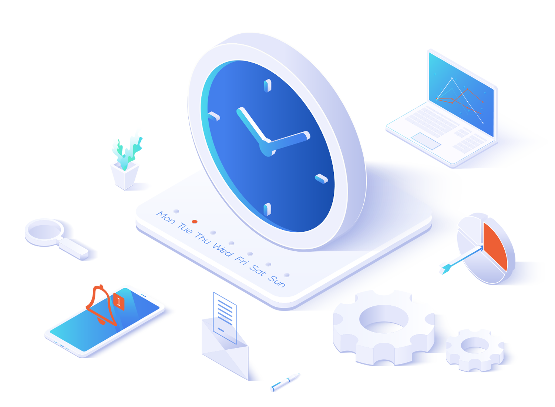 Creative Computing Save Time Icon.
